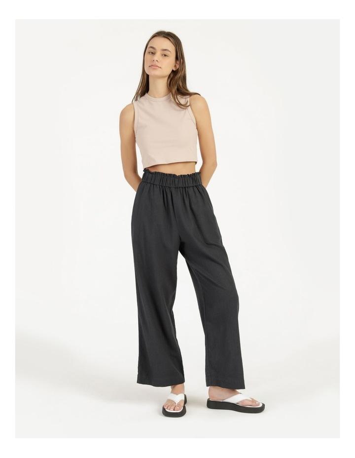 Paper Bag Wide Leg Linen Pant image 2
