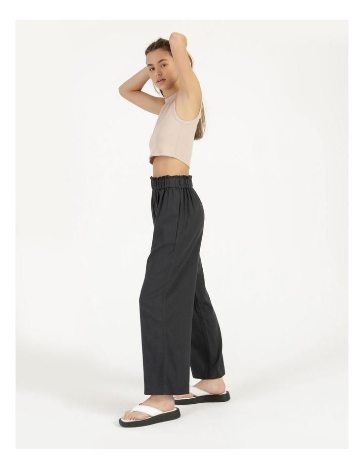 Paper Bag Wide Leg Linen Pant image 3