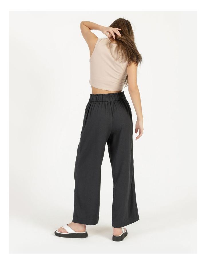 Paper Bag Wide Leg Linen Pant image 4
