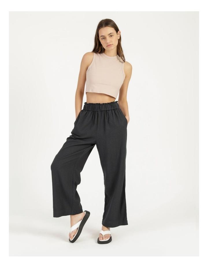 Paper Bag Wide Leg Linen Pant image 5