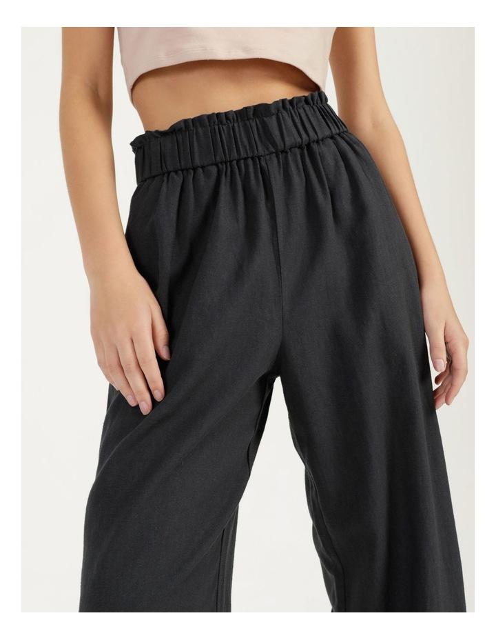 Paper Bag Wide Leg Linen Pant image 6