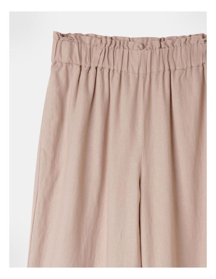 Paperbag Wide Leg Linen Pant Mushroom image 2