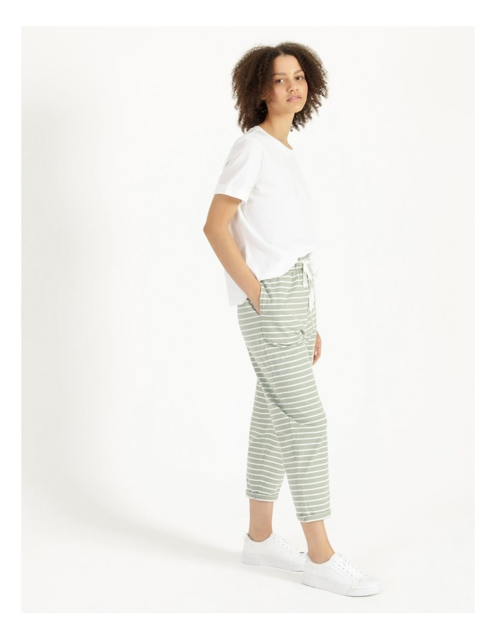 Stripe Jersey Relaxed Slim Tapered Track Pants image 3