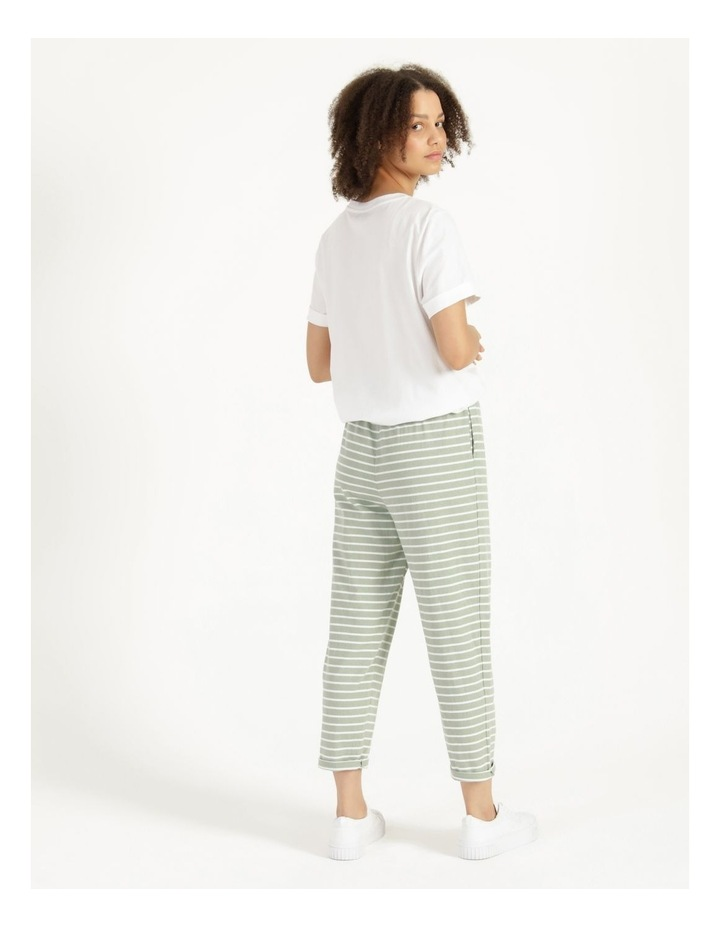 Stripe Jersey Relaxed Slim Tapered Track Pants image 4