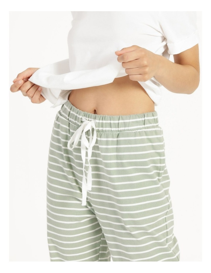 Stripe Jersey Relaxed Slim Tapered Track Pants image 5