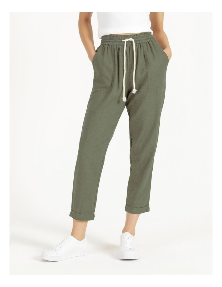 Relaxed Linen Pants Agave image 2