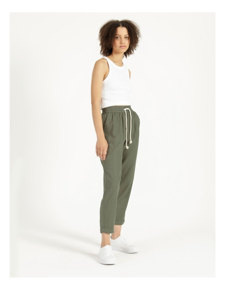 Relaxed Linen Pants Agave image 3