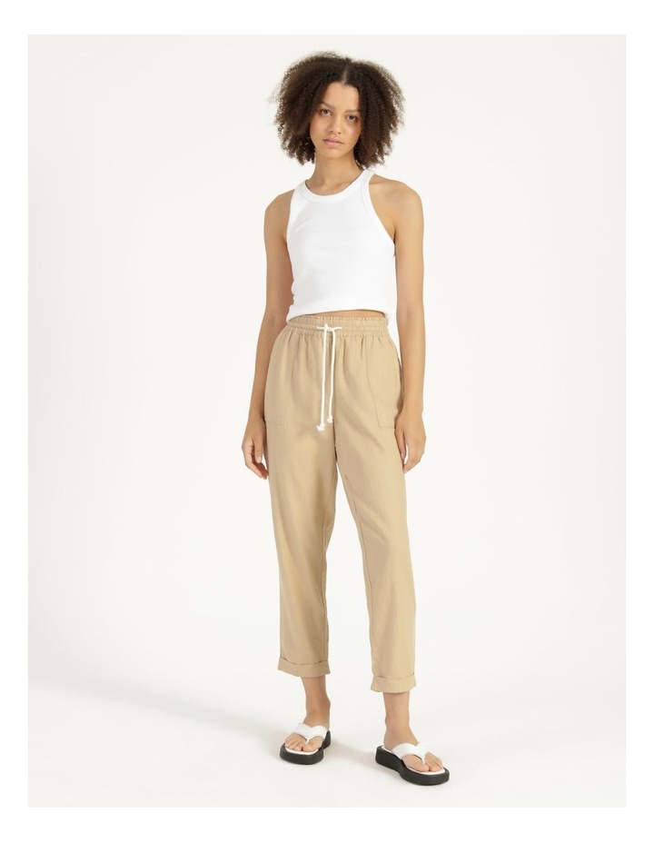 Relaxed Linen Pants Sand image 1