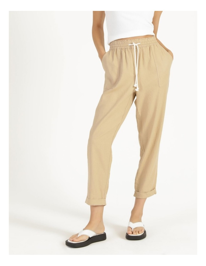 Relaxed Linen Pants Sand image 2