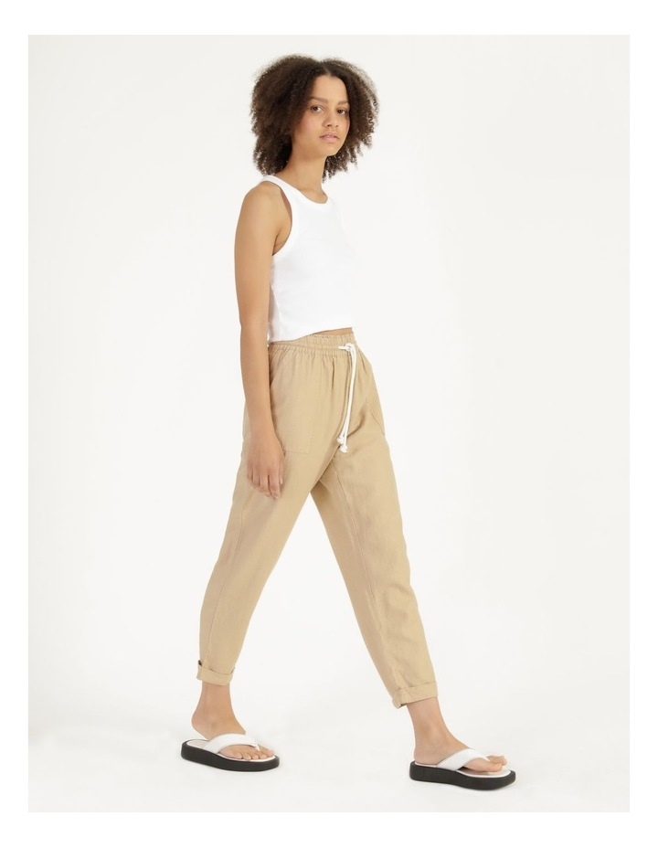 Relaxed Linen Pants Sand image 3