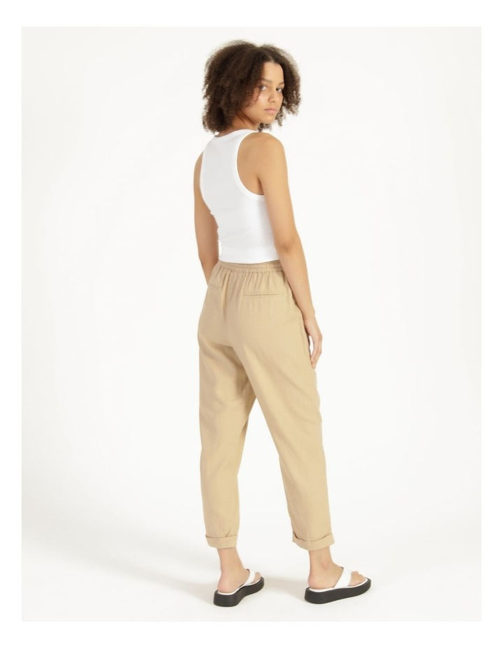 Relaxed Linen Pants Sand image 4
