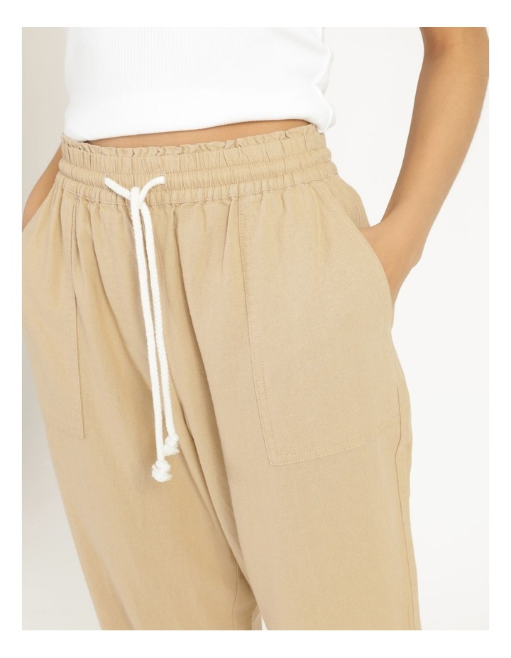 Relaxed Linen Pants Sand image 6