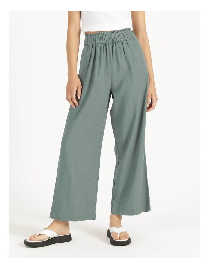 Paperbag Wide Leg Linen Pant Stormy Sea image 2