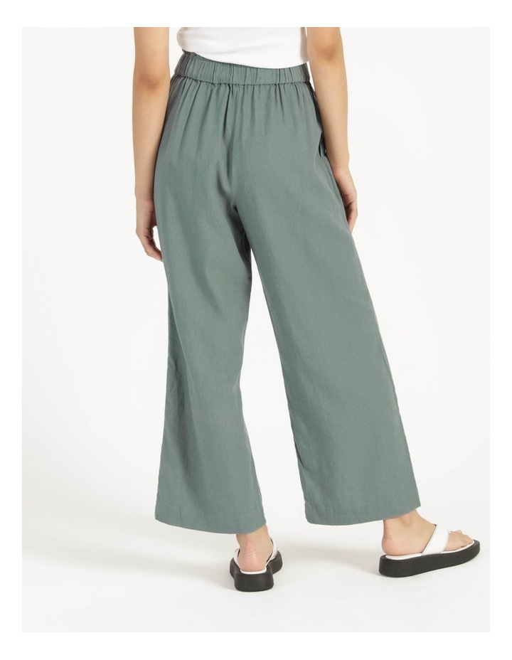 Paperbag Wide Leg Linen Pant Stormy Sea image 4