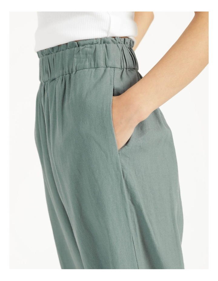 Paperbag Wide Leg Linen Pant Stormy Sea image 5