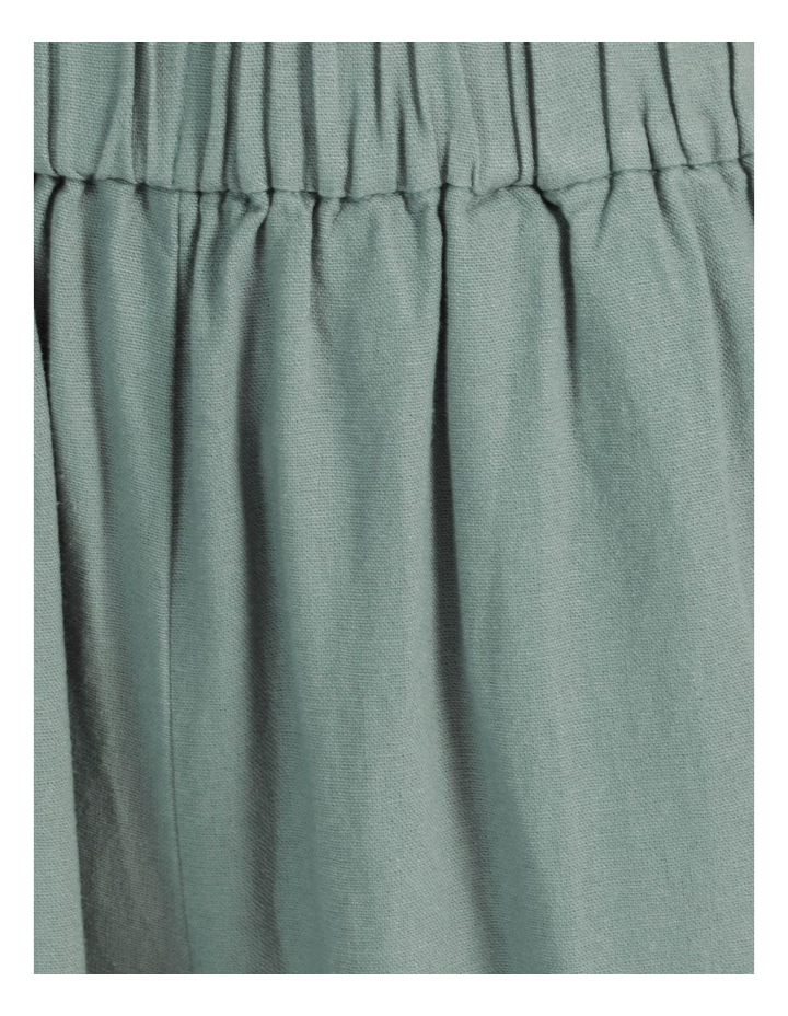 Paperbag Wide Leg Linen Pant Stormy Sea image 6