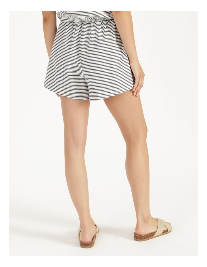 Stripe Jersey Relaxed Shorts White/Charcoal Stripes image 5