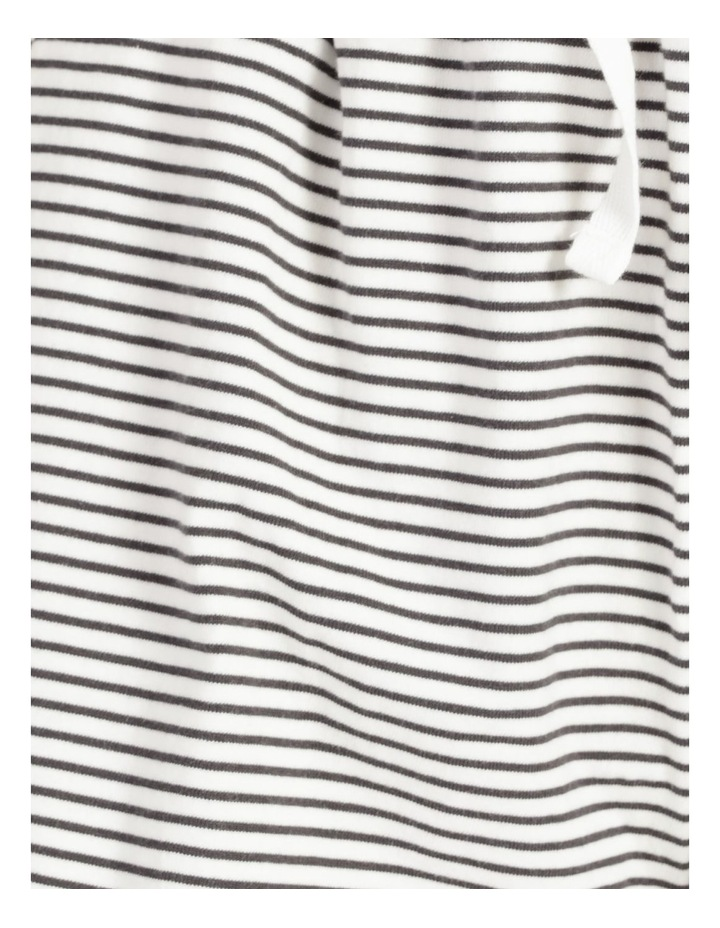 Stripe Jersey Relaxed Shorts White/Charcoal Stripes image 7