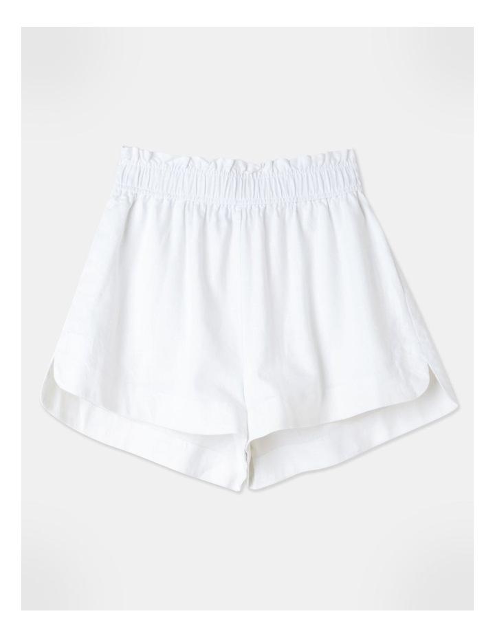 Linen Blend Shorts White image 1