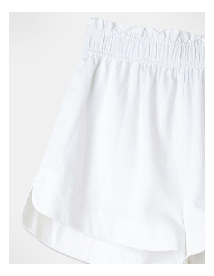 Linen Blend Shorts White image 2