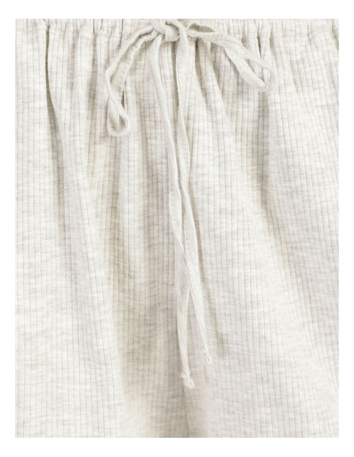Rib Lettuce Edge Shorts Light Grey Marle image 7