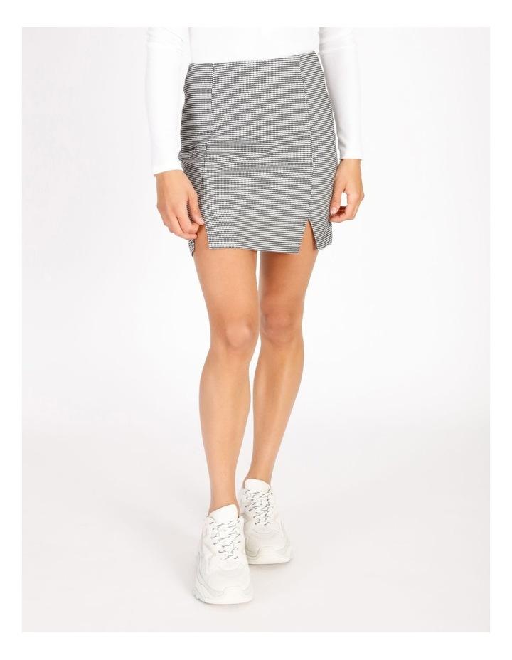 Black & White Houndstooth Mini Skirt image 1