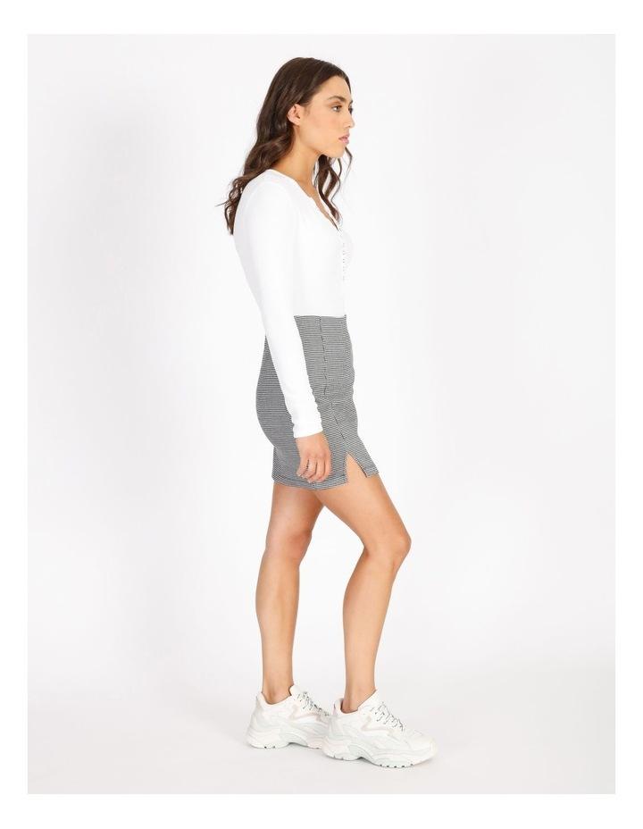 Black & White Houndstooth Mini Skirt image 2