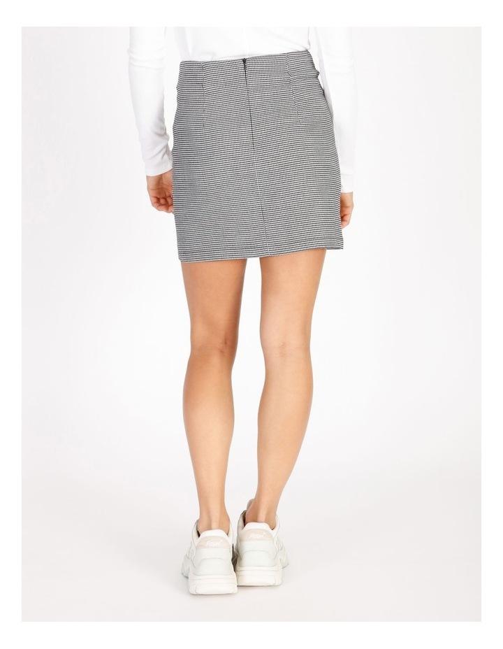 Black & White Houndstooth Mini Skirt image 3