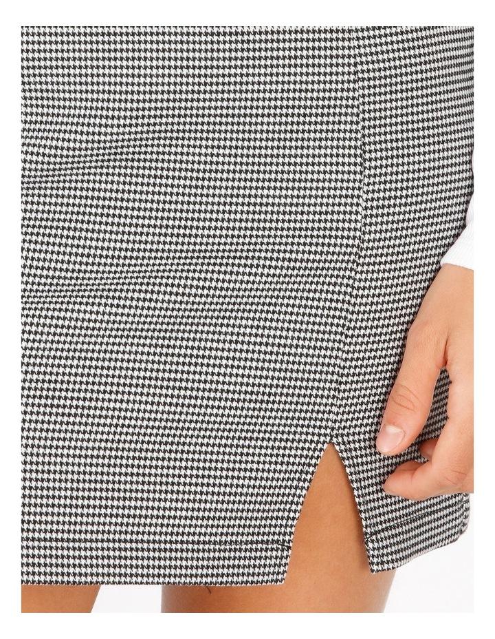 Black & White Houndstooth Mini Skirt image 4