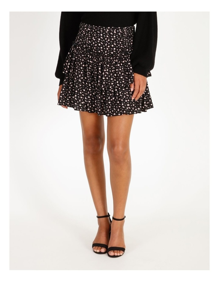 Ruched Floral Mini Skirt image 1