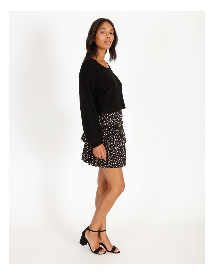 Ruched Floral Mini Skirt image 3