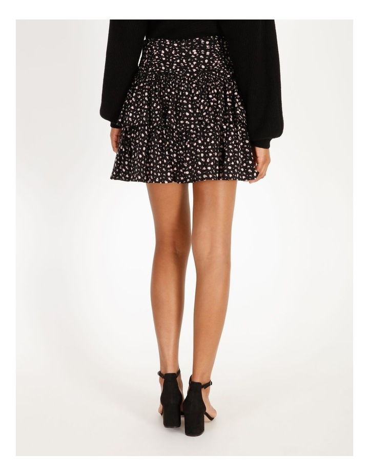 Ruched Floral Mini Skirt image 4