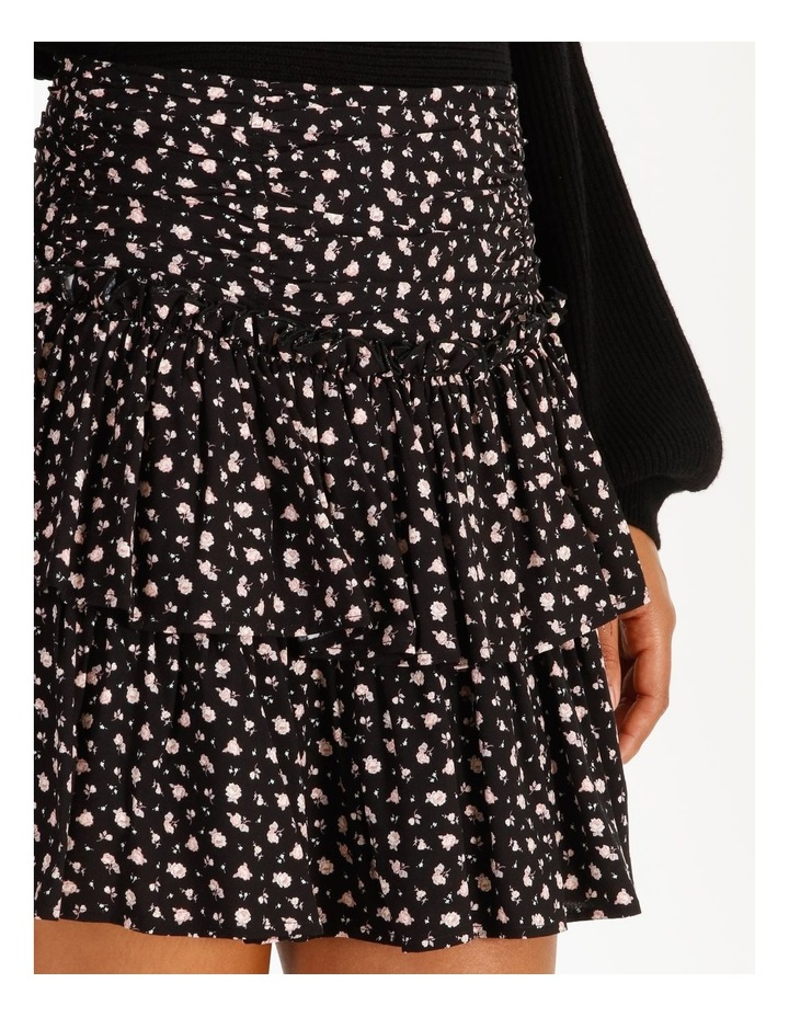 Ruched Floral Mini Skirt image 5