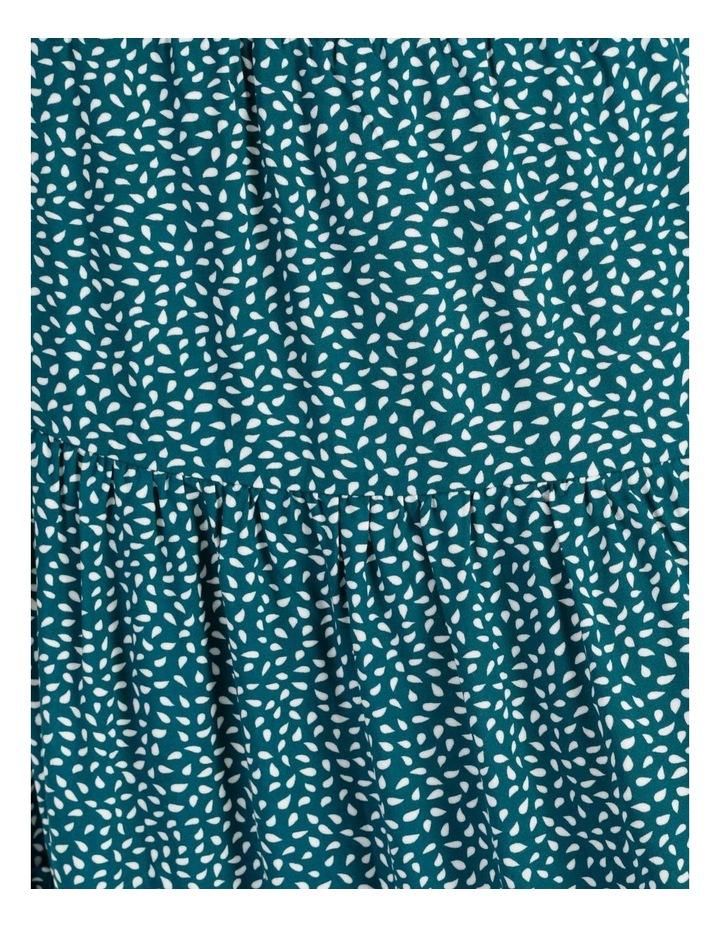 Midi Tiered White/Blue Floral Midi Skirt image 7