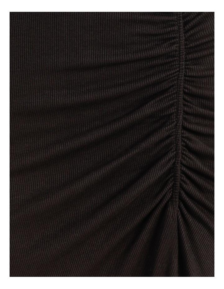 Ruched Jersey Midi Skirt Black image 6