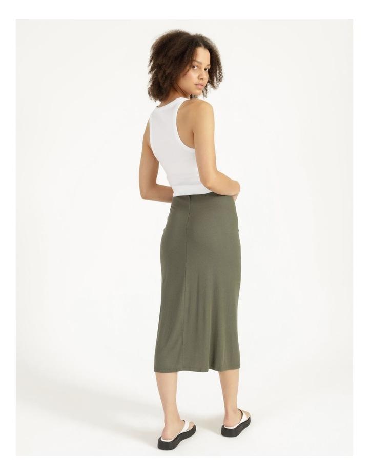 Ruched Jersey Sage Midi Skirt image 4