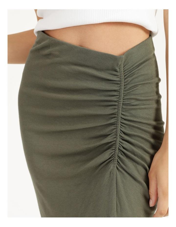 Ruched Jersey Sage Midi Skirt image 5