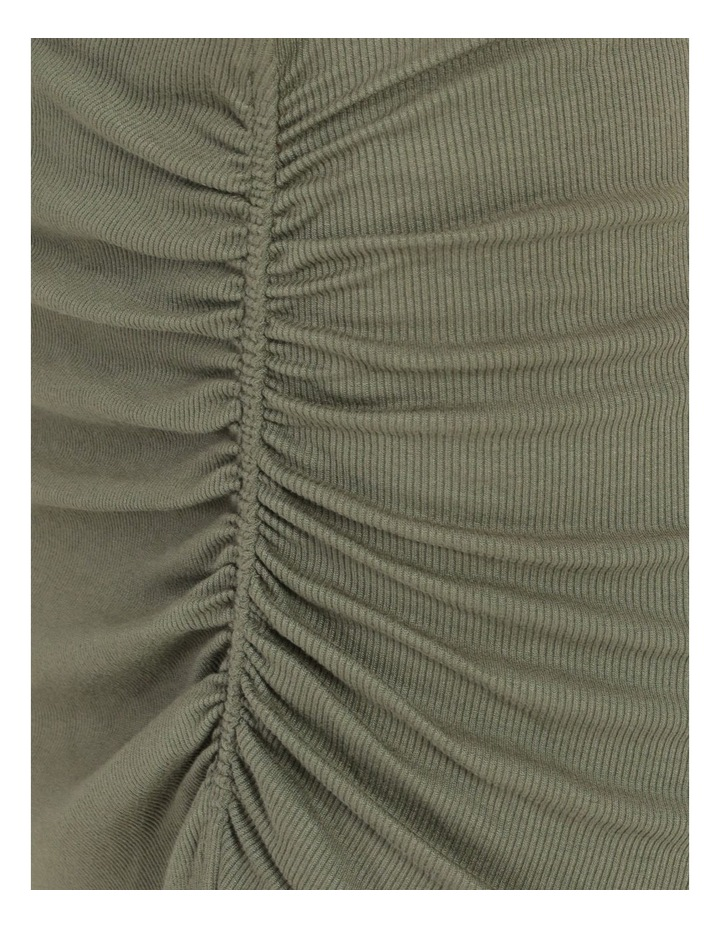 Ruched Jersey Sage Midi Skirt image 6