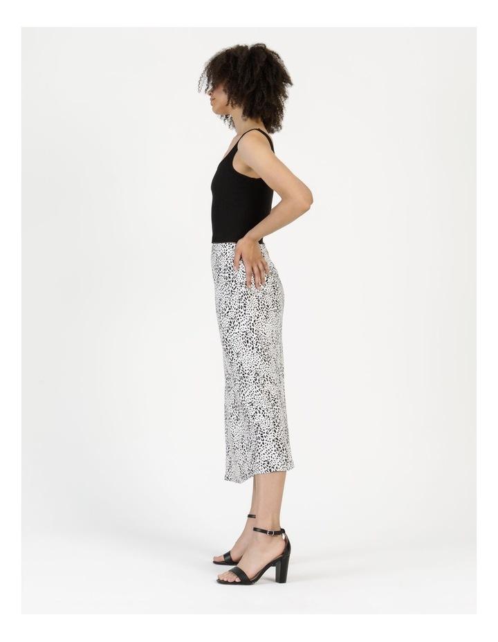 Side Split Midi Skirt White/Black Animal image 5