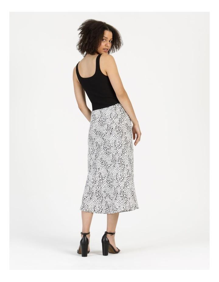 Side Split Midi Skirt White/Black Animal image 6