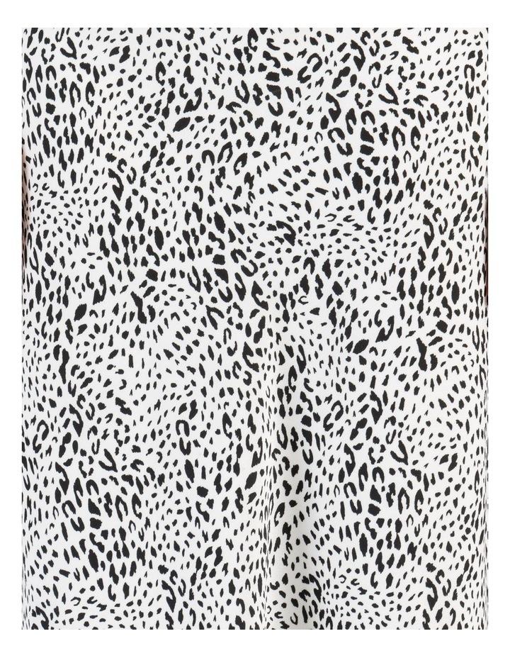 Side Split Midi Skirt White/Black Animal image 7