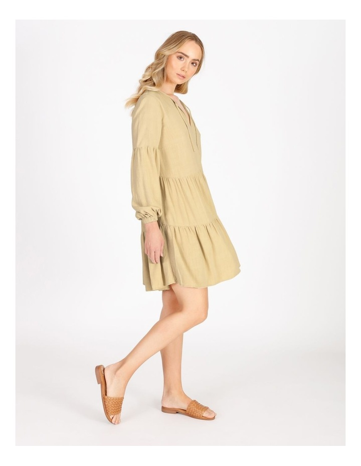 Tiered Billow Sleeve Dress image 1