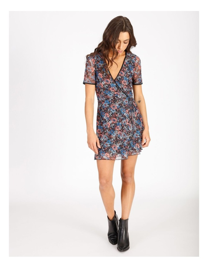 Floral Mini Wrap Dress image 1
