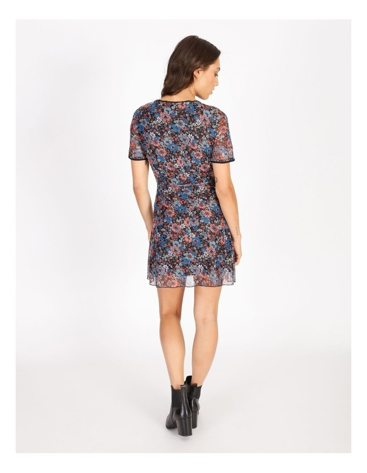 Floral Mini Wrap Dress image 3