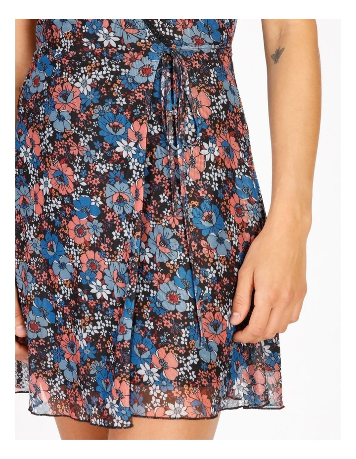 Floral Mini Wrap Dress image 4