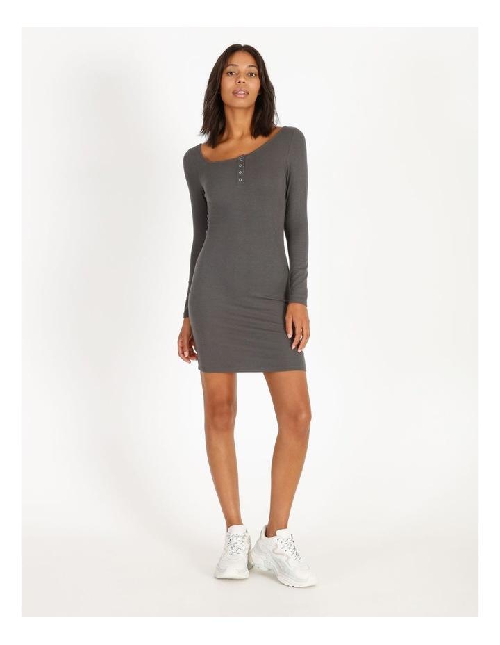 Long-Sleeve Henley Dress image 1