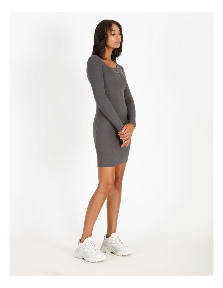 Long-Sleeve Henley Dress image 2