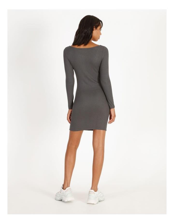 Long-Sleeve Henley Dress image 3