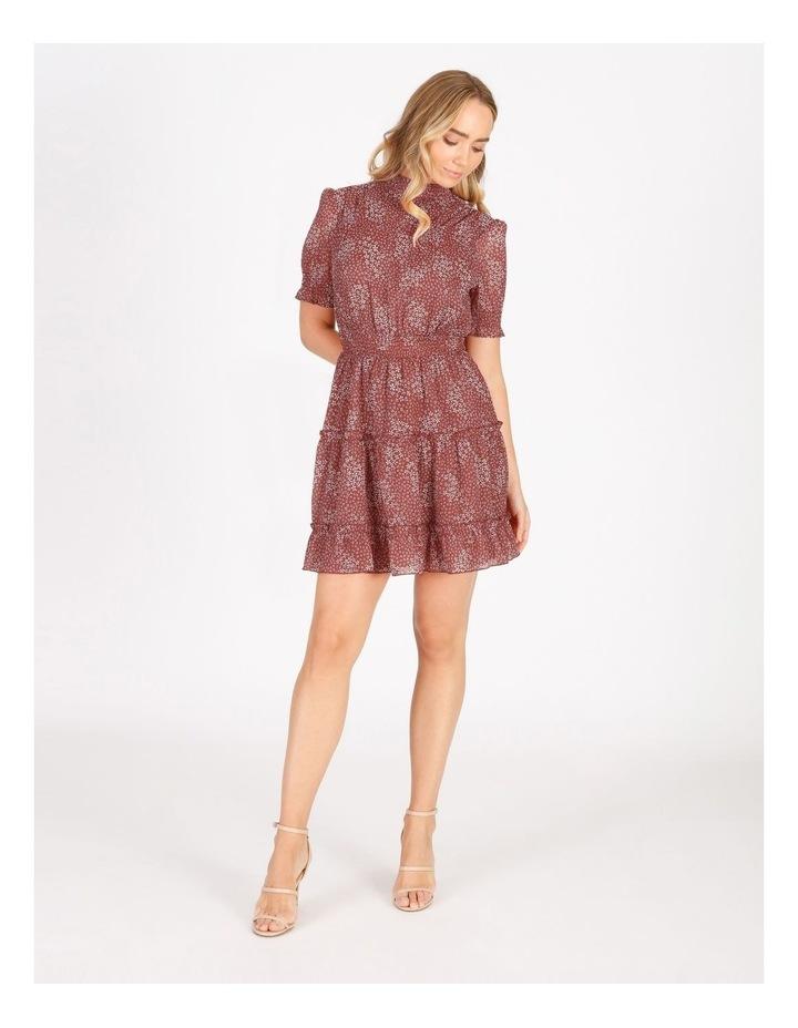 High Neck Shirred Dress image 1