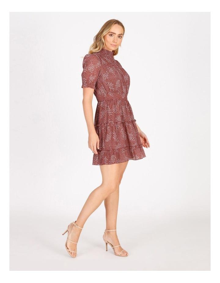 High Neck Shirred Dress image 2